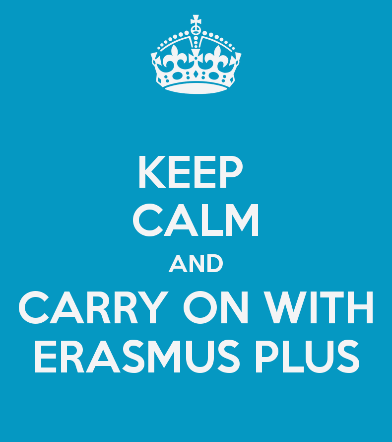 keep calm and carry on with erasmus plus 2